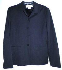 JONES NEW YORK MSRP $129 Black Striped Jacket Lined Regular Size 8
