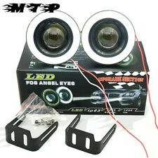 "Car 15W High Power 3.5"" Projector LED Fog Light lamp COB WHITE Angel Eyes Ring"