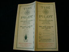 Vintage 1927 A The Pilot Steamship Cruise Sailing Bulletin Brochure Ship    R619