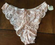 Victoria's Secret Vintage Light Pink Cheeky Tanga Panties size S Gold Label