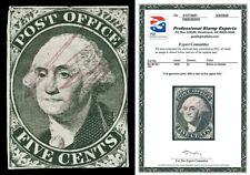 Scott 9X1 1845 5c Washington N.Y. Provisional Used Fine Cat $475 PSE CERTIFICATE