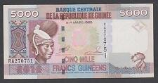 GUINEA == 5000 FRANCS  = 2012 BANKNOTE == UNC