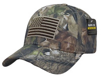 Hybricam Camo USA US American Flag Patch Low Crown Tactical Baseball Cap Hat Cap