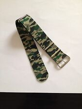 Quality Camouflage Military Army Type Nylon Watch Strap Band Steel Buckle 24mm