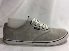 3f6cebae85 VANS Black White Pinstripe Womens 7 M Casual Sneaker Skate Shoes Canvas  Flats
