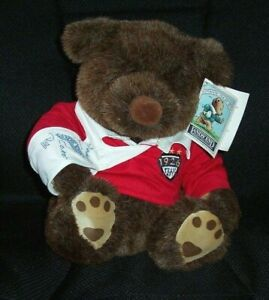 Lands' End Grizzly Grabinski Gund Bear Authentic Rugby Plush 1994 Grizzly, LE