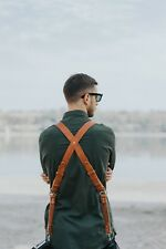 Multi-Camera dual leather strap harness shoulder fast belt Light model 2