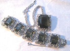 1960s Sarah Coventry Celebrity- Hostess Gift Bracelet, Matching Pendant Necklace