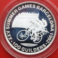 Niederlande-Suriname: 100 Guilders 1992, #F1993, KM# 41, PP-Proof