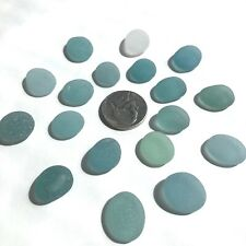 Surf-Tumbled GENUINE Sea glass Beautiful Beach Glass Jewelry/Crafts Blue d1