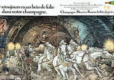 PUBLICITE ADVERTISING 026  1978   Champagne Mercier (2p) Sadi Carnot visite cave