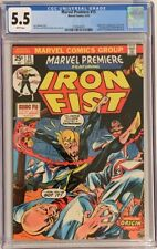 Marvel Premiere #15 (1974) CGC 5.5 WHITE 1st App: Iron Fist - Beautiful copy!