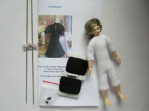 Knitting kit 1:12 scale housekeeper clothes for 5.5 inch doll  + Heidi Ott doll