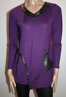 L.LINDA Brand Purple Long Sleeve Pull Over Top Size 10 NEW #TK12