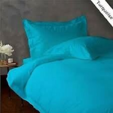 Queen Size Turquoise Solid 4 Pc Sheet Set 1000 Thread Coun 100% Egyptian Cotton
