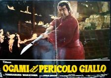 LONE WOLF AND CUB BABY CART AT RIVER STYX Italian fotobusta movie poster 1972