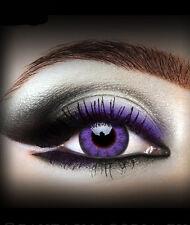 Lentilles couleur gothique lolita effet spéciaux grands yeux poupée dolly Violet