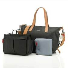 Storksak Noa Canvas Baby Bag - Black