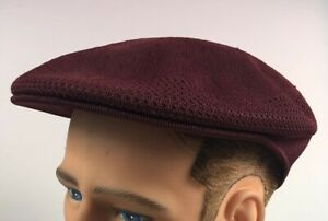 NEW WITH TAGS Kangol Tropic Ventair Small Driving Burgundy Golf Flatcap Hat