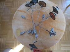 Alte Christbaum-Kerzenhalter mit Gewichten Tannenzapfen