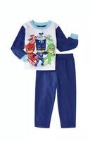 PJ Masks Boys 2 Piece Sleepwear Pajama PJ Set- Flannel- Size 2T Toddler
