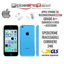 apple iphone 5c 32 gb grado A+ + BLU AZZURRO originale rigenerato ricondizionato
