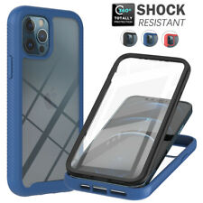 For iPhone 13 12 11 Pro Max 8 7 SE Case Clear Bumper Heavy Duty 360 Full Cover