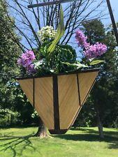 Handmade Triangular Hanging Planter Made of Wood Indoor or Outdoor