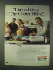 1989 Canon Personal Copiers Ad - Jack Klugman - Canon brings the copier home