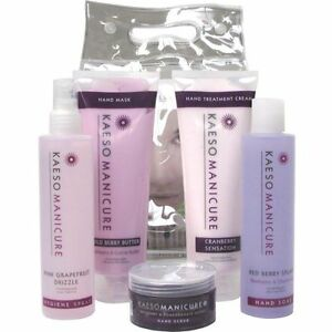 KAESO BEAUTY MANICURE KIT SET - hand spray soak lotion scrub mask cream