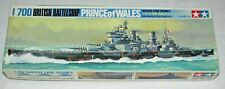 PRINCE OF WALES~British Battleship~1/700~Tamiya~Water Line Series~ Kit #122~PO