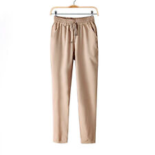 Fashion Women Leisure Strappy Pants Elastic Waist Bright Color Summer Spring