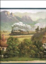 TRAINS ROLLING THROUGH THE COUNTRYSIDE WALLPAPER BORDER BY WAVERLY 5506860