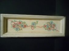 WOODEN TRAY - FLORAL HAND PAINTED VERY UNIQUE