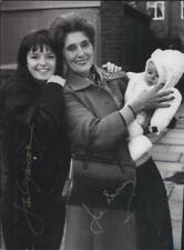 SIGNED x2 EastEnders 6x8 photograph June Brown (Dot) Jan Graveson (Disa) RARE