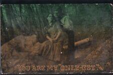 "2BitPostcard-E248 1913 ""You are my Only-est"" Romance"
