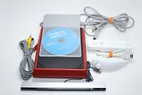 Nintendo Wii RED Console WII SPORTS GAME CONTROLLER NUNCHUCK RVL-202 BUNDLE