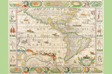 Antique Maps of the The Americas Nicolas Visscher 1658 Poster Poster - 12x18