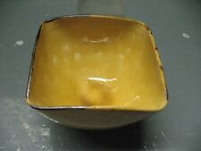 VINTAGE ANTIQUE  AEGITNA  VALLAURIS  YELLOW   OCHRE SQUARE  BOWL