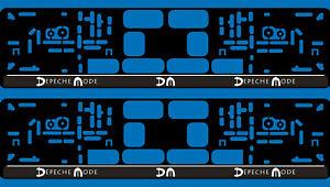 2 Kennzeichenhalter Kfz Auto Pkw EU Nummernschild Halter Depeche Mode Spirit DM