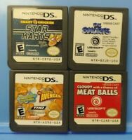 Cloudy Meatballs Crazy Chicken Spongebob Smurf Nintendo DS Lite 2ds 3ds Game Lot