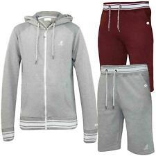 Kangol Mens Tracksuit Fleece Hoodie Top Gym Pocket Bermuda Jogging Bottom Shorts
