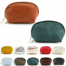 New Womens Ladies Half Moon Leather Coin Purse Key Holder Wallet Pouch Purse