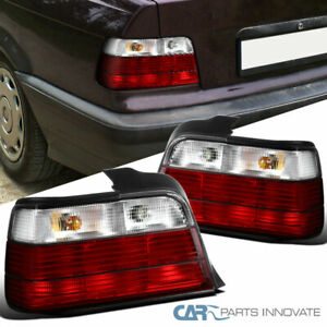 For 92-98 BMW E36 318i 325i 4Dr Sedan Red/Clear Parking Tail Lights Brake Lamps