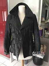 Veste en cuir noir BURBERRY taille 40 tres bon etat 1495€