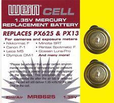 2 x px625-px13-mr9-Weincell original MRB 625 batería - 1,35 V-zinc/aire