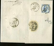 1863 REGNO lettera MILANO-MONZA-c.15 LITOGRAFICO I° Tipo+AMBULANTE-f740