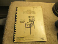 original BLACK PYRAMID BALLY  pinball MACHINE manual