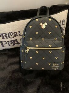 NWT LOUNGEFLY DISNEY MICKEY MOUSE QUILTED MINI BACKPACK NEW WITH TAGS