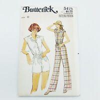Butterick Vintage Sewing Pattern #5471 Misses Jumpsuit in Misses Size 10 Uncut